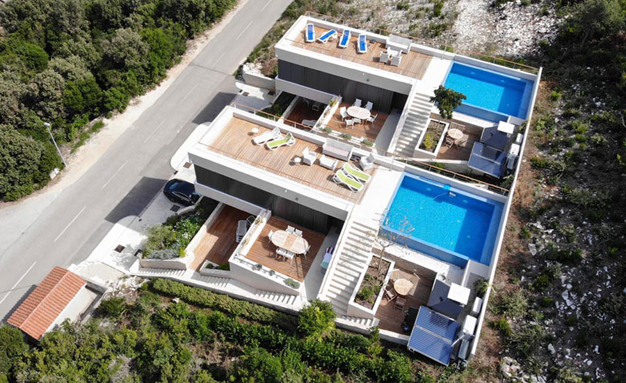 Luxury villas of korcula