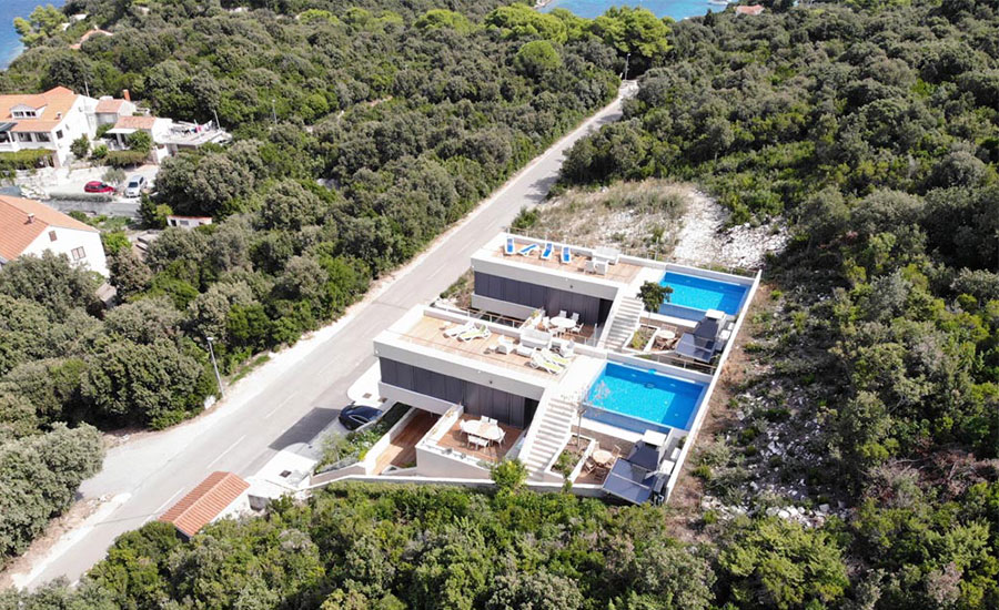 Luxury villas of korcula